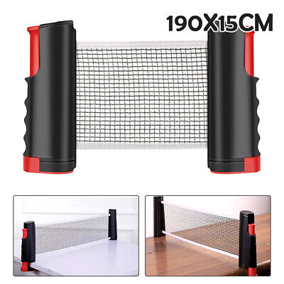 Portable Retractable Table Tennis Net Kit Ping Pong Indoor Games Replacement Set