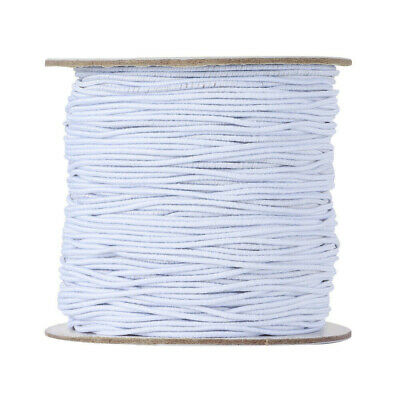 1 Roll 100 Meters White Round Elastic String1mm Widths Stretchy Cords Cable New