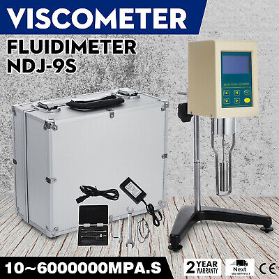 NDJ-9S Rotational Rotary Viscometer Viscosity Tester Meter Fluidimeter w/Case