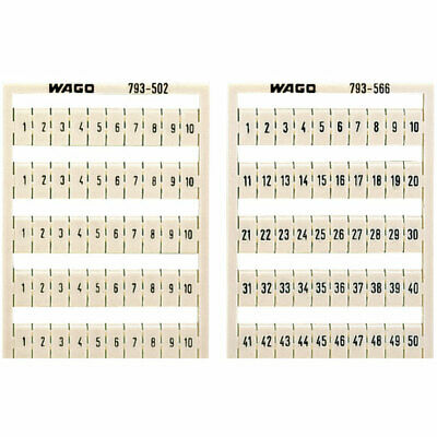 WAGO 793-3502 WMB Multiple Marking System Horizontal Marking 1 ... 10 10x White