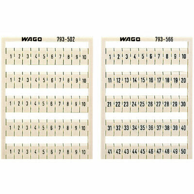 WAGO 793-5603 WMB Multiple Marking System Vertical 11 ... 20 10x, white