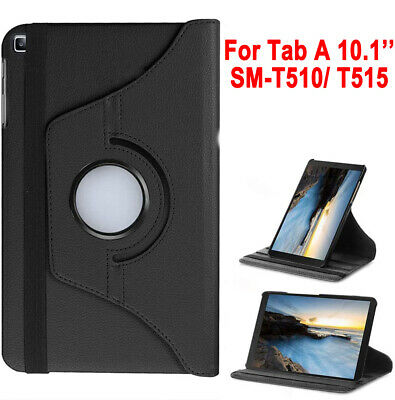 "For Samsung Galaxy Tab A 10.1"" 2019 SM-T510/T515 PU Leather Case 360 Cover Stand"