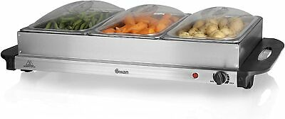 Swan SBS75 Buffet Server with Adjustable Temperature/ 3 Compartments Brand New