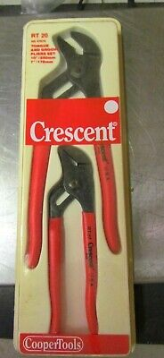 """New Old Stock Crescent RT20 10"""" & 7"""" Tongue Grove Pliers Set NS 47079"""