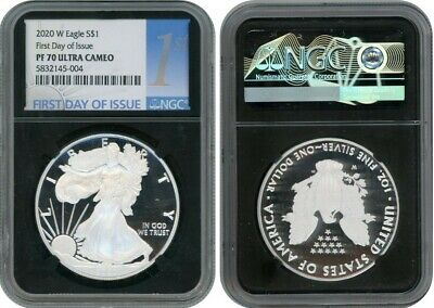 2020 W American Eagle $1 Ngc Pf70 First Day Of Issue Ultra Cameo 004