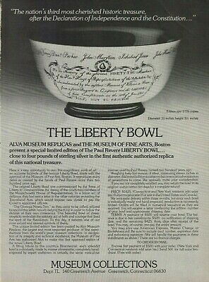 1976 Paul Revere Liberty Bowl Museum Collections Photo Vintage Photo Print Ad