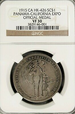Hk 426 / Sh 19-1 S So-Called $ Panama-Ca Expo Official Medal Uncle Sam – 1915