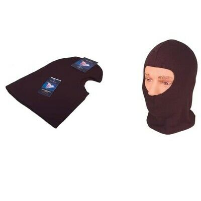 Thermal Balaclava Black Knitted Heavy Duty Winter Wicking Head Neck Face Guard