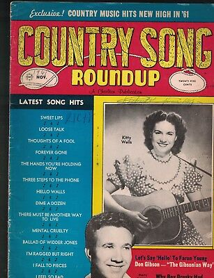 Country Song Roundup November 1961 Kitty Wells Patsy Cline Don Gibson
