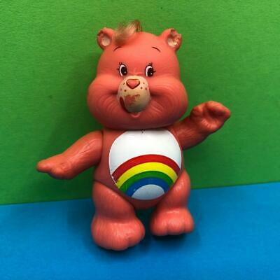 Vintage Care Bears Cheer Bear Pink Poseable Toy Action Figure 1980s
