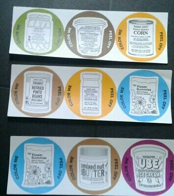 "9 TRADER JOE'S ""COLOR ME""  3 "" Stickers"
