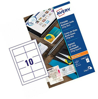 Avery C32024-10 Printable Double-Sided Business Cards 8 Cards Per A4 Sheet