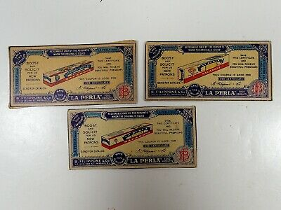 Vintage Three Different Store Coupon Certificates Advertising La Perla
