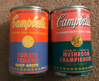 Andy Warhol 60th Anniversary Canadian Edition Soup Cans Set of Two NEW 2020