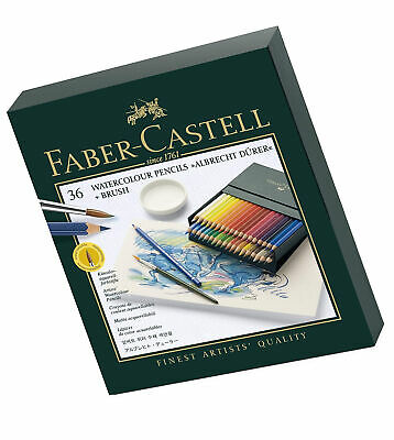 Faber-Castell Albrecht Durer Watercolour Pencils Gift Box x 36 Colours and Brush
