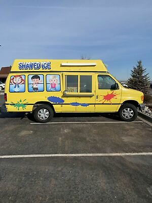 2006 - 22' Ford Econoline Van Snowie Shaved Ice Truck Turnkey Snowball Business