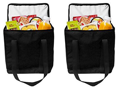 Earthwise Reusable Insulated Grocery Bags Heavy Duty Nylon Thermal Cooler Tot...
