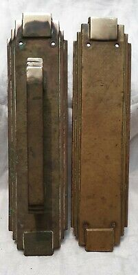 1 Pair Large Vintage Heavy Brass Door Handles -Trunk.Pub.Hall (2 Pair Available)