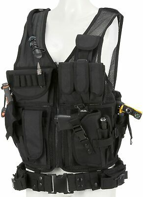Outdoor Tactical Combat 6 Pouches Magazine Carry Chest Rig Vest Hunting Black US