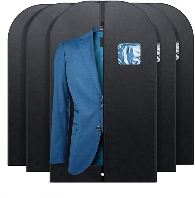 Garment Bag Suit Coat Hanging Storage Cover Dustproof Travel Reusable Men 5 Pack