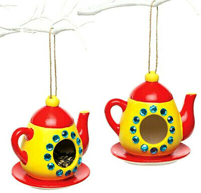 Pack Of 2 Teapot Ceramic Bird Feeder Blanks To Paint And Decorate Craft Projects