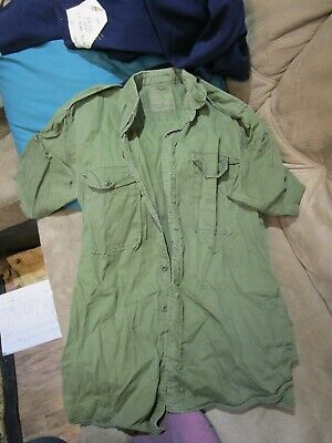 Australian Army Issue Jungle Green Shirt, dated 1971.