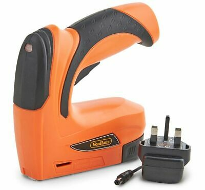 Electric Cordless Staple Gun Nail Upholstery Carpet Wood Fabric Stapler Nailer
