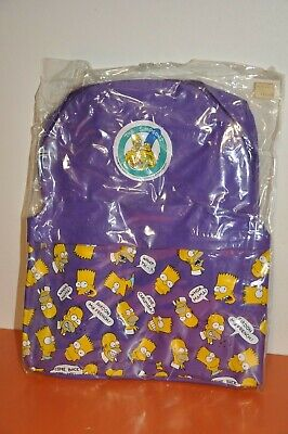 """RARE The SIMPSONS """"BACKPACK"""" by IMAGININGS3 / 1990 -(16"""" X 13"""") MINT = UNOPENED!"""