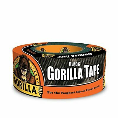 "Gorilla 6001203 6001203-10 Duct Tape 1.88"" x 12 yd Black Pack of 1 1-Pack"
