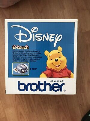 BROTHER E-TOUCH E-100P Disney Winnie Pooh Personal Embroidery Machine. Complete