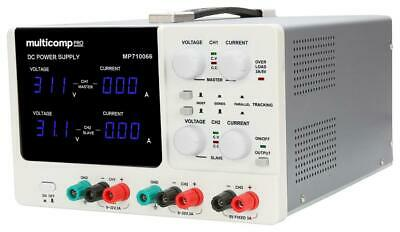 Bench Power Supply, Adjustable, 3 Output - MULTICOMP PRO - MP710066