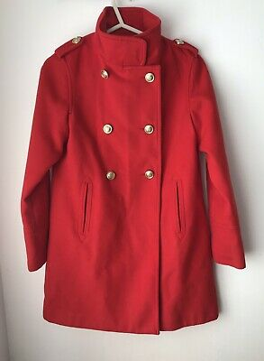 Girls Red, Button Coat From Next. Age 12 Years. Stunning coat rrp £36.