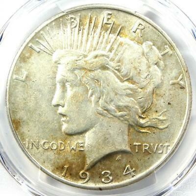1934-S Peace Silver Dollar $1 Coin - Certified PCGS XF45 (EF45) - Rare Date!