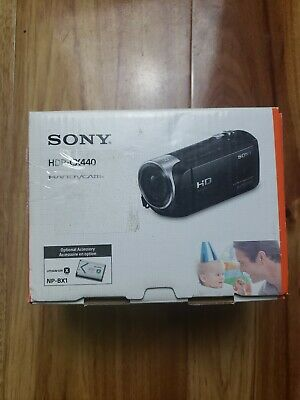 Sony HDR-CX440 1080p HD 8GB Internal Memory Black Camcorder. Perfect condition