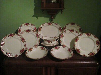 Royal Albert Old Country Roses Edles Speise Service Für 6 Personen Top-Zustand!