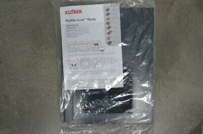 Klober Profile Line Tile Vent Grey Anthracite Brand New In Bag & Instructions