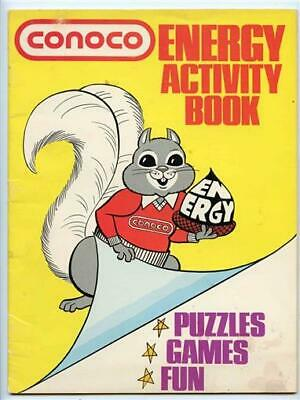 Conoco Energy Activity Book Puzzles Games Fun 1975 Spencer the Squirrel Cover