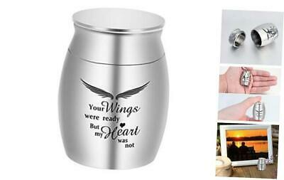 Dletay Small Keepsake Urns for Human Ashes Mini Cremation Urns for Ashes Silver