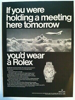 1967 Rolex Chronometer Print Advertising - If You Were Holding A Meeting.. Ad
