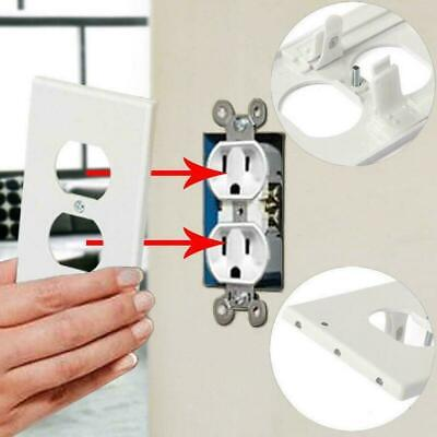 3 LED Wall Outlet Cover Plate Bathroom Bedroom Kids Night Duplex Light M1X5