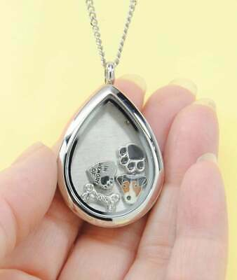 Jack Russell Tear Memory Locket Necklace, Dog Memorial Jewelry, Terrier Keepsake