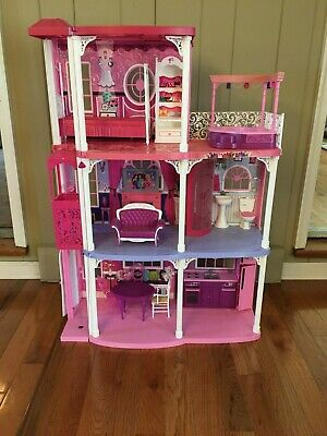 Used 2009 Mattel Barbie 3-Story Dream Townhouse  Barbie Doll House
