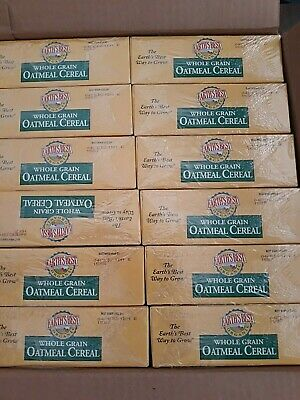 Lot of 12 EARTH's BEST Organic Whole Grain OATMEAL Cereal 8oz Box -  2/4/2021