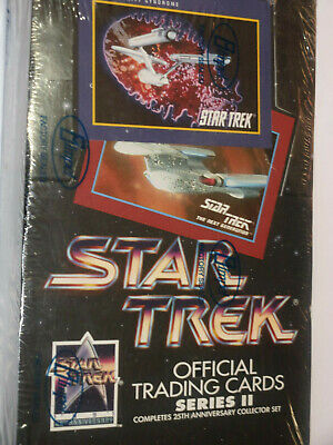 1991 Impel STAR TREK OFFICIAL TRADING CARDS 25th Anniversary SERIES 2 Sealed box