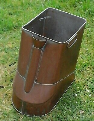 Unusual Antique Vintage Large Copper Easter Island Foot Bath Log Bin Planter