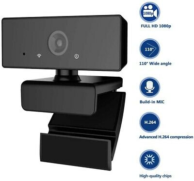 Full 1080P Webcam Computer Face Camera with Dual Microphone for PC, Laptops