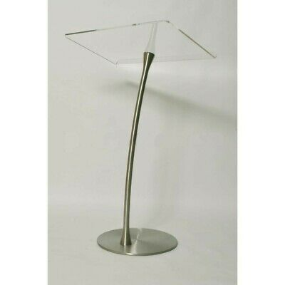 Clear and Beautiful Acrylic Steel Column Arc Lectern Podium Pulpit - Love it
