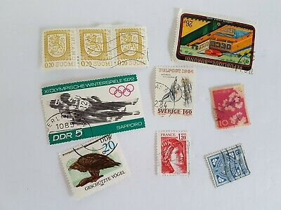 Mixed World Stamp Posted Postmarked Lot #7