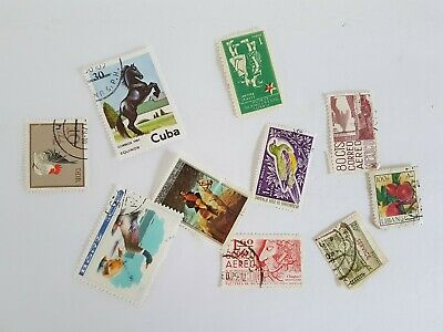 Mixed World Stamp Posted Postmarked Lot #3