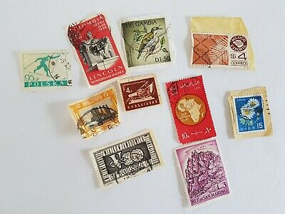 Mixed World Stamp Posted Postmarked Lot #2